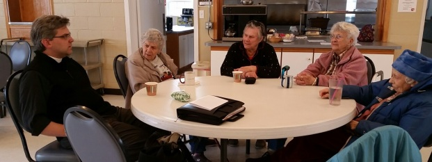 Here we are, gathered for a simple lunch on Annunciation afternoon - March 25, 2015